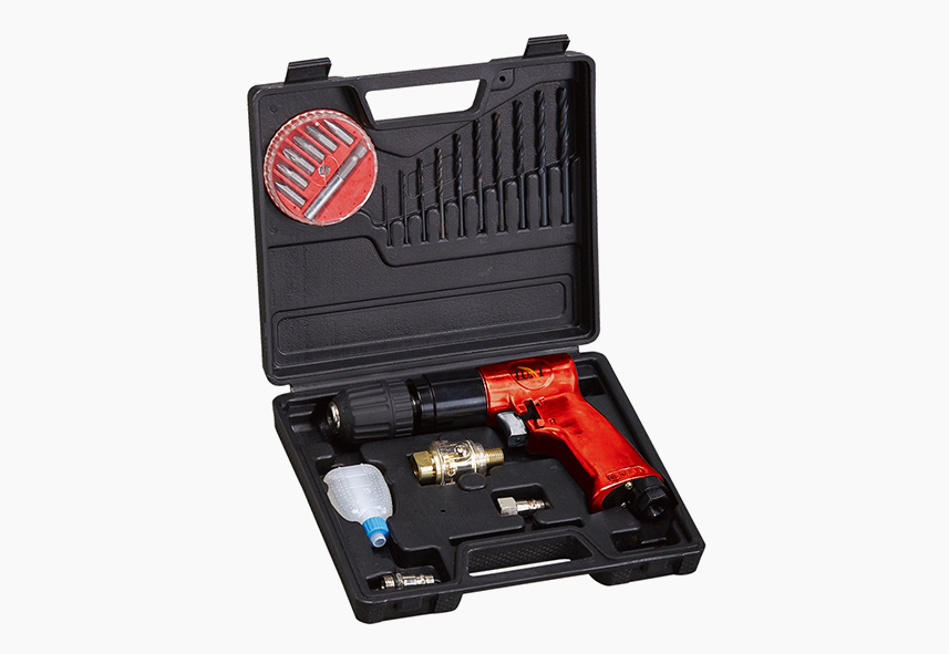LX-034 (LX-3010K) 22-PC 3-8 Inch Reversible Pistol Drill BMC Kit