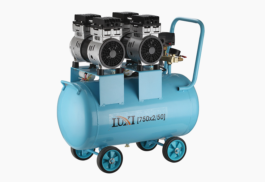 1.5KW 50L Dual Cylinder Oil Free Compressor Model C-821