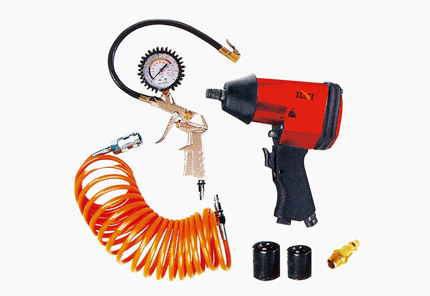 LX-015 6-PC Impact Wrench & Inflater Combo Kit
