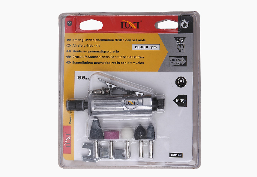 LX-101 (LX-1010K) 9-PC Die Grinder Blister Kit
